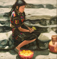 Jenni White's painting of life in Guatemala