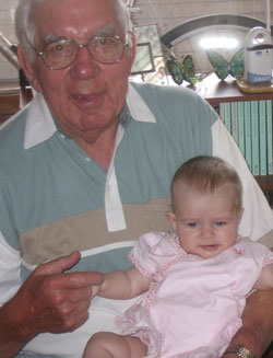 Winston Erlandson and his great-granddaughter Lexi