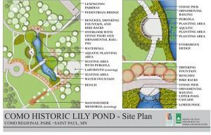 Como Park Lily Pond plans - 2012