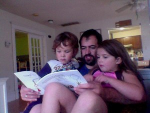 Ariah reads The Stephanies to his kids.