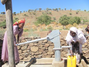 Milo's well in Ethiopia. You can help change lives through organizations like charity:water