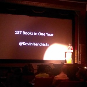 137 Books in One Year Presentation at Ignite / Photo by MNHeadhunter
