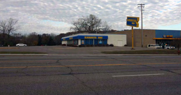 Former Blockbuster property on the west side of Robert Street