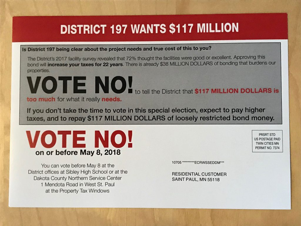 Vote no mailer (back)