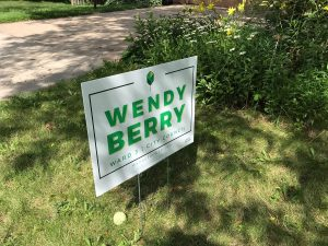 Wendy Berry Ward 3 City Council yard sign