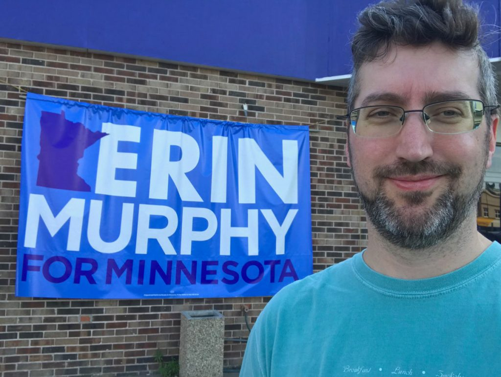 Out door knocking for Erin Murphy