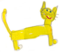 Drawing of Mike the Cat