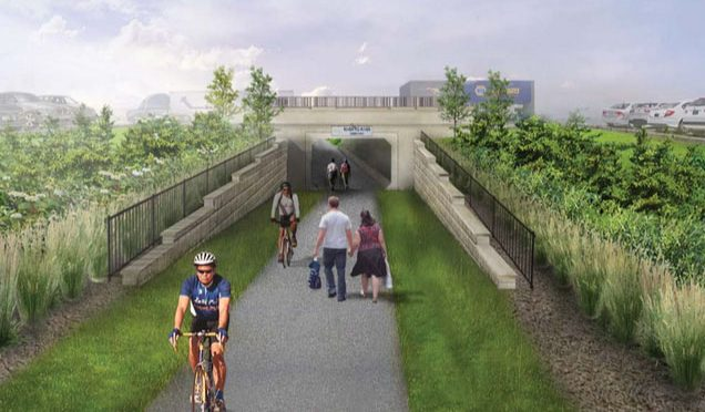 River-to-River Greenway tunnel at Robert Street in West St. Paul