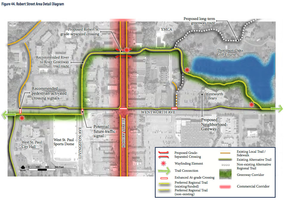 Robert Street Tunnel proposed routing
