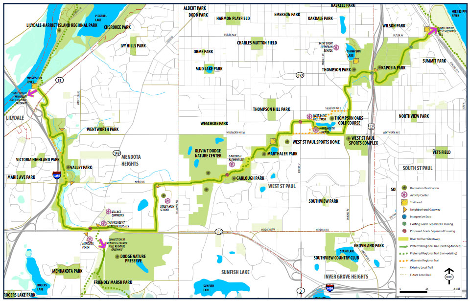 River-to-River Greenway trail map