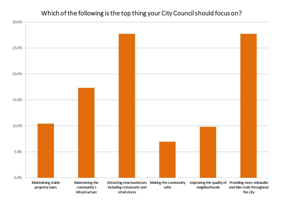 Which of the following is the top thing your City Council should focus on?