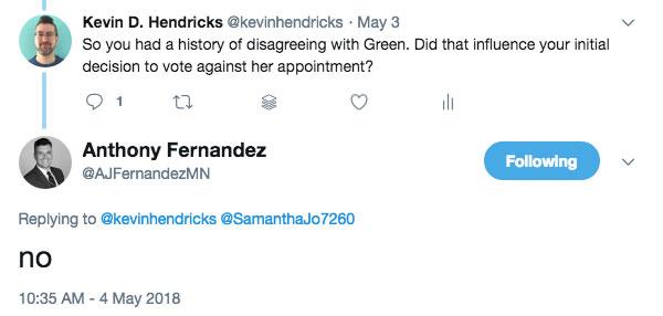 """Anthony Fernandez: """"no"""""""