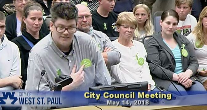 Wendy Berry's speech at the West St. Paul city council