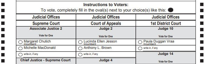 2018 Minnesota Judicial Races: Statewide & 1st District