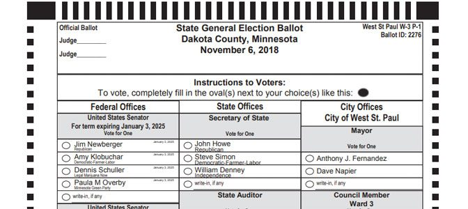Blogging the Ballot: West St. Paul 2018 Voter's Guide