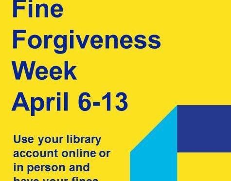 Fine Forgiveness Week at Dakota County Library: April 6-13, 2019